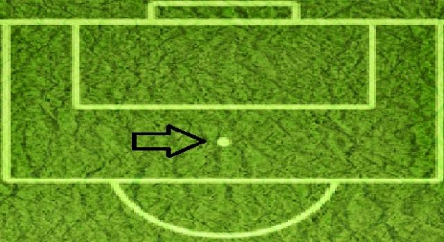 Campo de Futebol 11: Marca de grande penalidade.