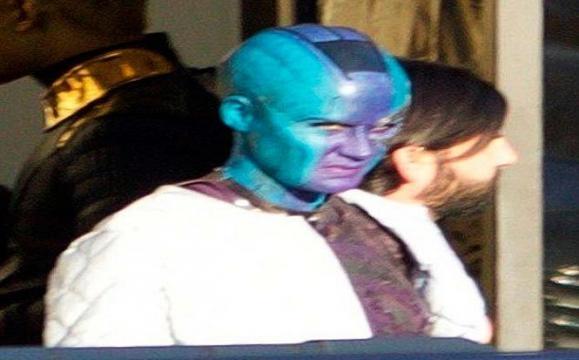 Nébula en el set de 'Guardianes de la Galaxia 2'
