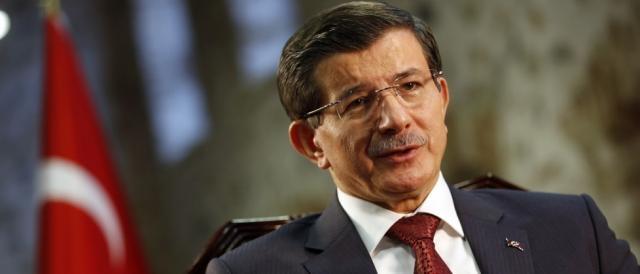 Il primo ministro turco Ahmet Davutoglu