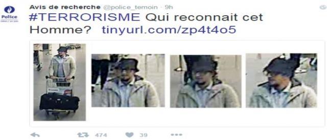 Pantallazo de la Policía Belga. Twitter.