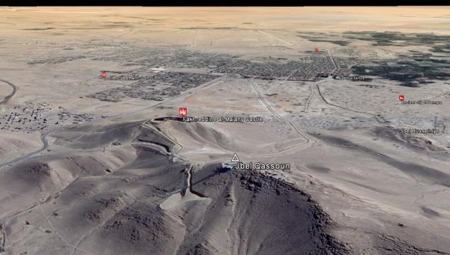 Vista su Palmira dalla linea del fronte