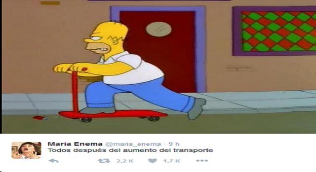 Memes en reacción al aumento de tarifas del transporte.