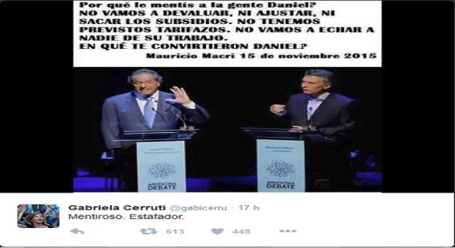 Tweet de la exlegisladora de la ciudad de Buenos Aires.