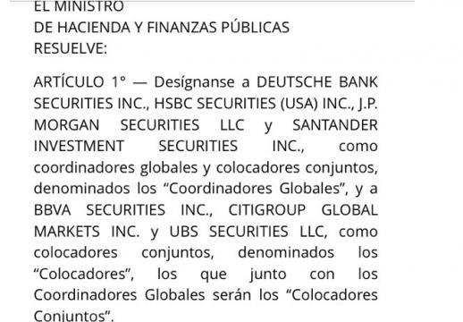 Siete bancos se repartirán las comisiones de la de deuda