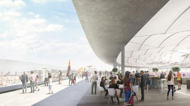 Áreas de circulação do Nou Camp Nou (Divulgação/ FC Barcelona)