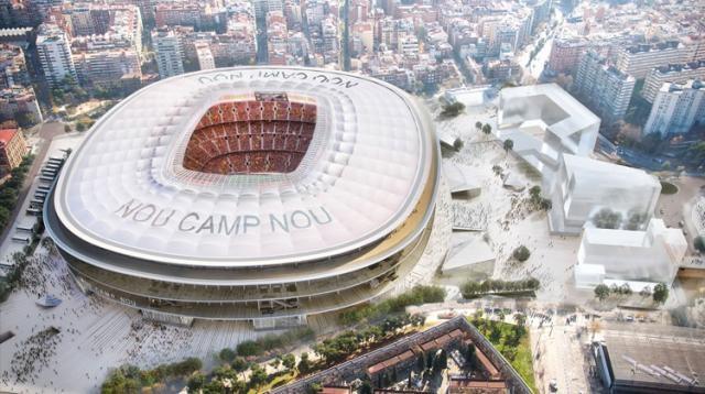Cobertura do novo estádio do Barça (Divulgação/ FC Barcelona)