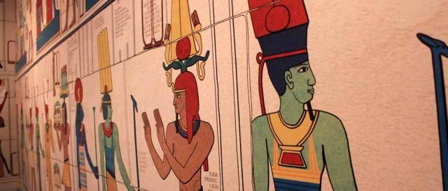 Egipcios de la muestra de Cleopatra. Foto: JEXA