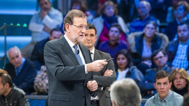 Rajoy cuando vino a 'La Sexta Noche'.