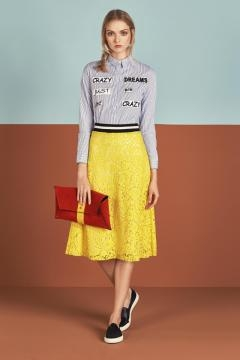 Gonna in pizzo giallo by Dixie