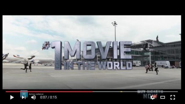 Marvel celebra el Nº1en la taquilla mundial anual con un nuevo clip inédito de 'Civil War'