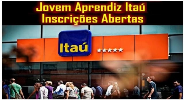 inscrições abertas para programa jovem aprendiz Itaú