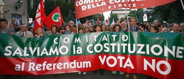 Manifestazione di un comitato spontaneo per il 'NO'