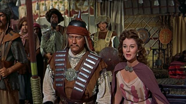 Jhon Wayne y Susan Hayward en