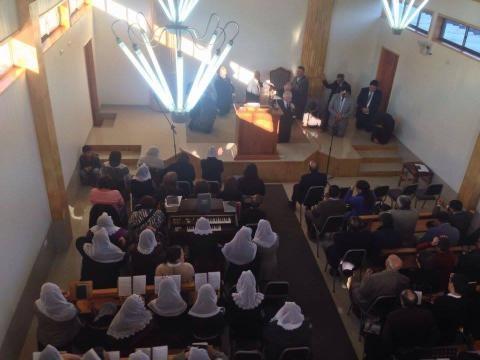 Oração durante a inauguração da CCL em Lautaro/Chile