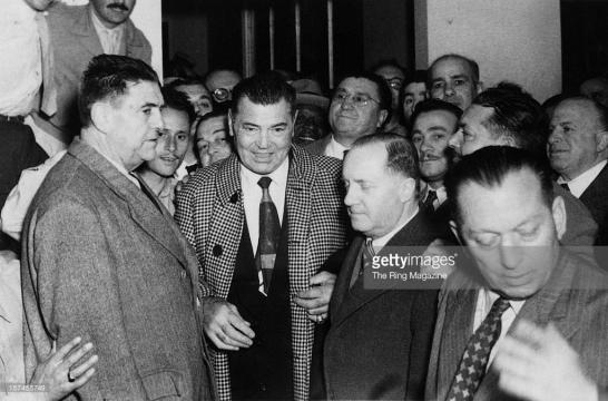 Firpo y Dempsey, en una visita a Buenos Aires del Norteaméricano
