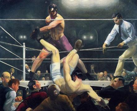 La famosa pintura de George Wesley Bellows