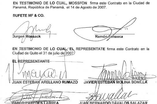 Contrato de representación de Mossack & Fonseca Quito 4