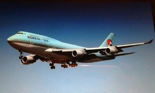 Aereo della korean Air in volo