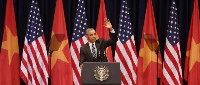 Barack Obama in occasione della sua recente visita in Vietnam