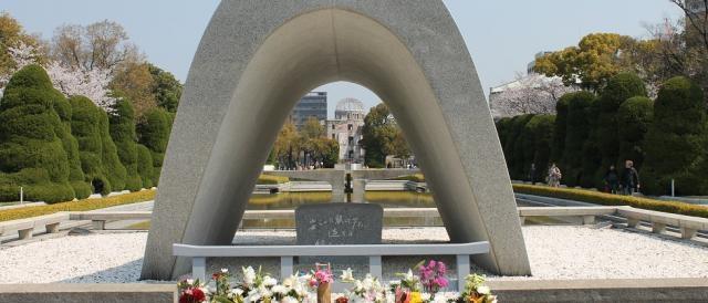 Il monumento dedicato alle vittime della bomba di Hiroshima