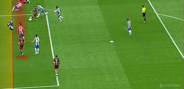 Gol mal anulado a Rakitic en el minuto 10