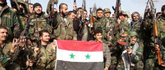 Militari dell'esercito regolare siriano
