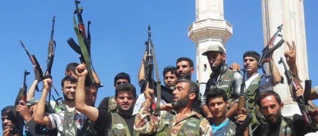 Un gruppo armato di ribelli siriani