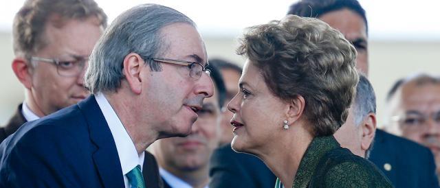 Dilma e Cunha em situação diferentes