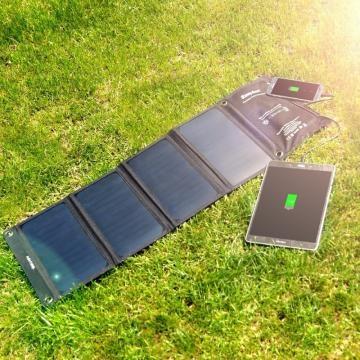 Funzionamento easyacc Caricabatteria Solare 4 porte con 28W