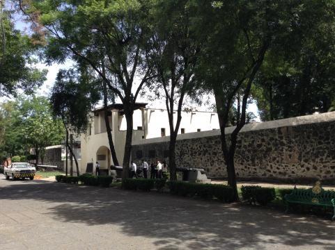 Fachada principal del acceso al exconvento de nuestra señora de los Ángeles de Churubusco