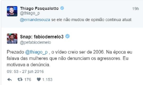 O padre Fábio de Melo respondeu ao internauta prontamente as acusações feitas contra ele.