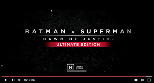 Presentan el primer trailer de la versión extendida de 'Batman v Superman: Dawn of Justice'