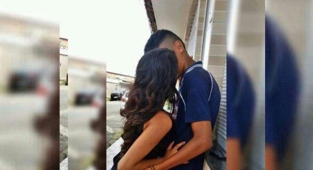 O casal de jovens suspeitos de terem cometido o crime
