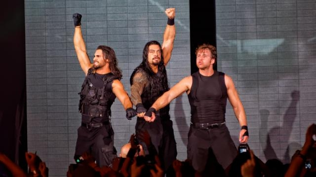The Shield (Roman Reigns, Seth Rollins & Dean Ambrose); May 2014 (photo via Flickr/Miguel Discart)