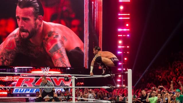 CM Punk on Monday Night RAW (photo via Flickr/Ed Webster)