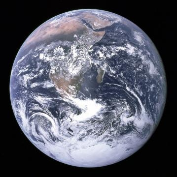Blue marble from space. NASA/Apollo 17 crew, https://en.wikipedia.org/wiki/File:The_Earth_seen_from_Apollo_17.jpg