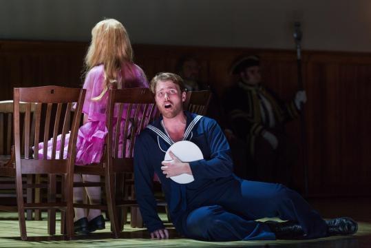 Harry Greenleaf as Anthony Hope, hopelessly smitten with Johanna. Photo: Karli Cadel, courtesy of The Glimmerglass Festival.