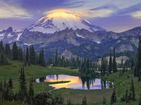Mount Rainier Glows At Sun Rise | Amazing Mountain Images - livescience.com