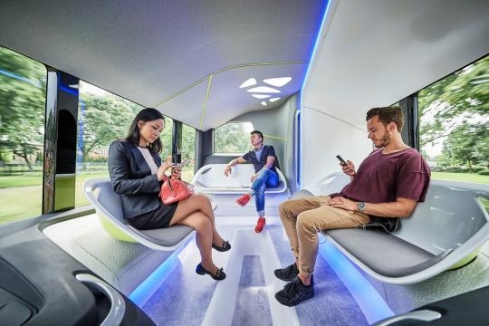 The bus has been specially designed keeping the needs of a modern city in mind/ Photo via www.techcrunch.com