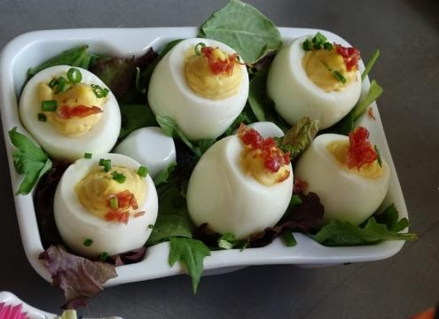 Angelic deviled eggs at Homecoming. (Photo by Barb Nefer)