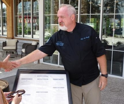 Chef Art Smith was recently on hand to greet people at Disney Springs. (Photo by Barb Nefer)
