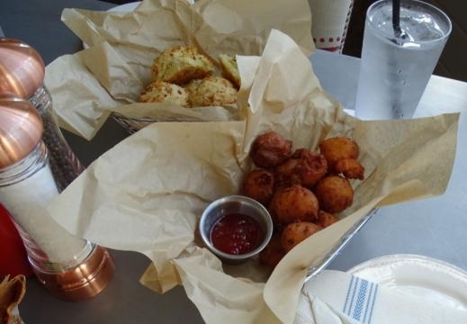 Hush puppies and biscuits are Southern traditions. (Photo by Barb Nefer)