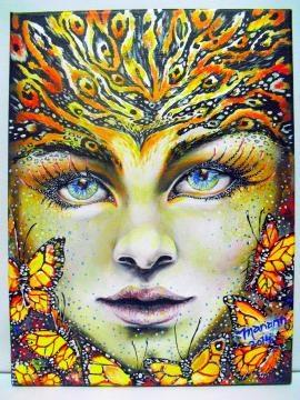 Los ojos cobran protagonismo en cada pintura