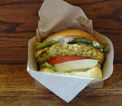 Vegetarians have their own sandwich at D-Luxe Burger. (Photo by Barb Nefer)