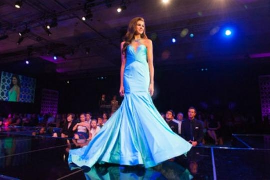 Miss Teen USA 2015 Katherine Haik in evening gown competition. (c) Miss Universe Organization. Used by permission.