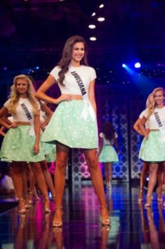 Miss Teen USA 2015 Katherine Haik in the opening number. (c) Miss Universe Organization. Used by permission.