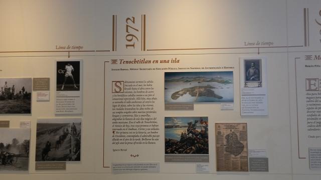 Breve museografía, construye una cronología mediante una publicación explicada del INAH