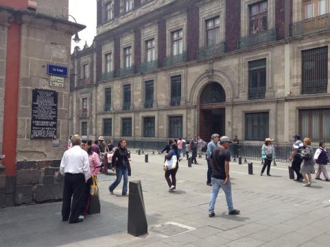 Fachada del Museo de las Culturas en la calle de Moneda