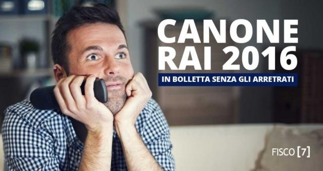 Fisco: Canone RAI 2016: in bolletta senza gli arretrati - - allnews365.eu