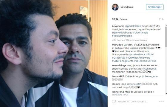 Kev Adams réplique sur www.instagram.com/kevadams